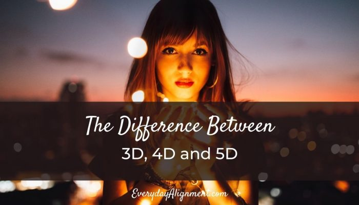 The difference between 3D 4D and 5D
